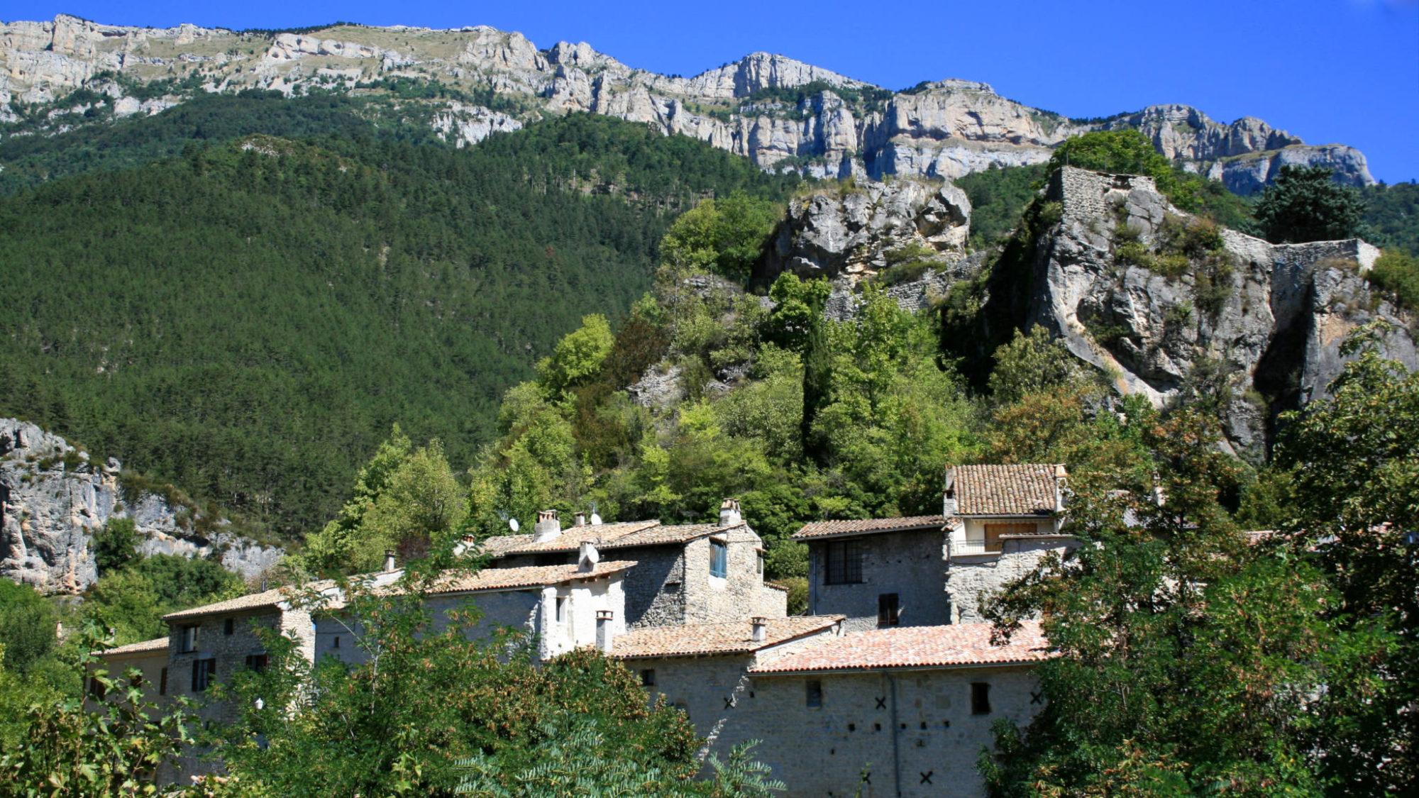 Le village de Châtillon en Diois
