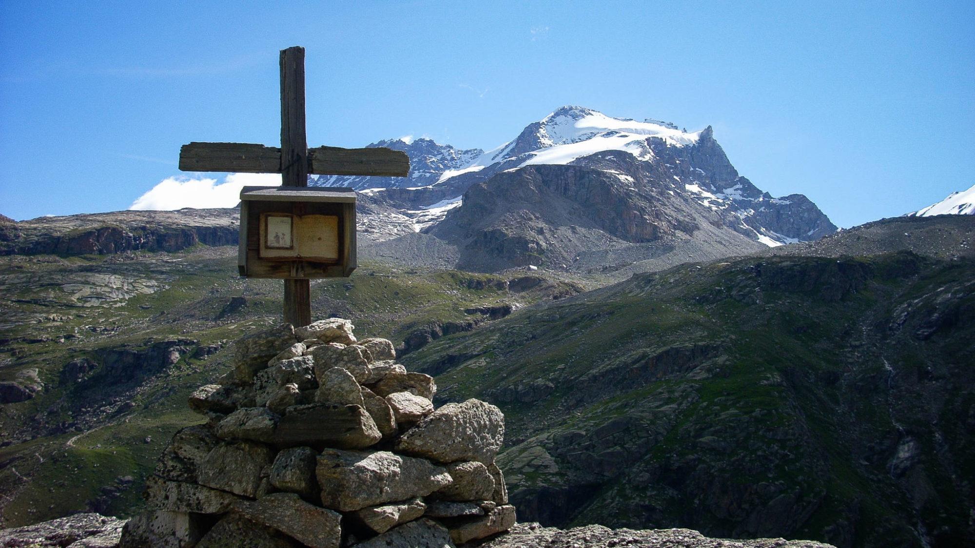 Le Grand Paradis depuis l'alpage de Seiva