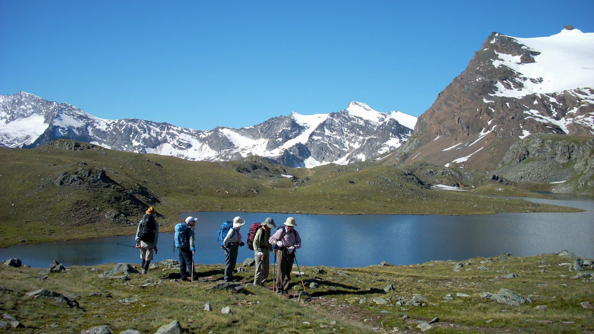 Le lac Rosset pendant la traversée du Grand Paradis