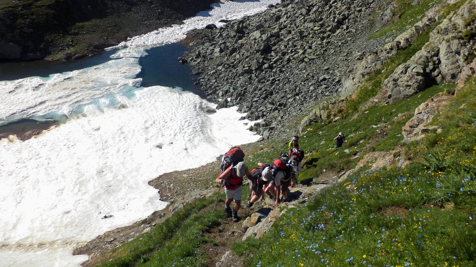 La montée au Col Nivoletta