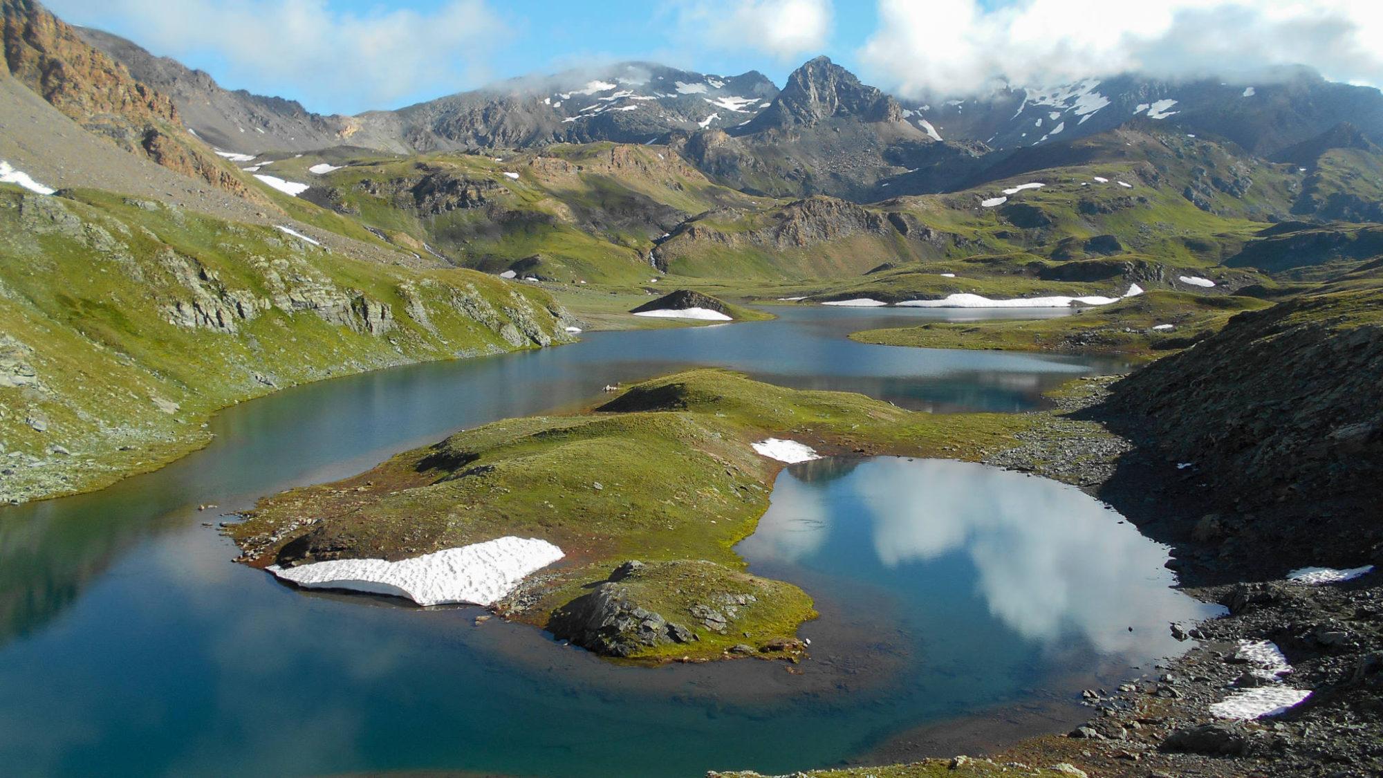 Le lac Rosset, massif du Grand Paradis