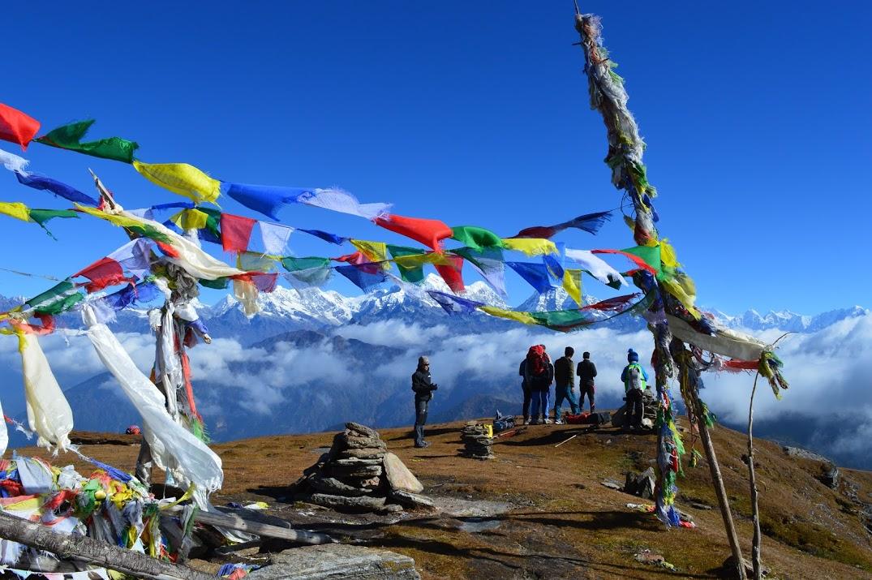 Belvédère sur le massif de l'Everest, trek en famille au Solu