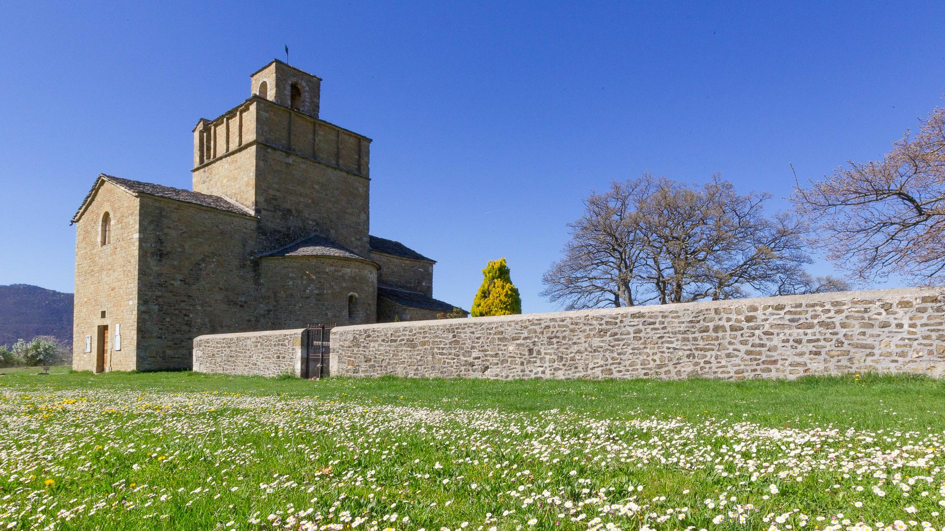 L'église de Comps sur les chemins des Huguenots