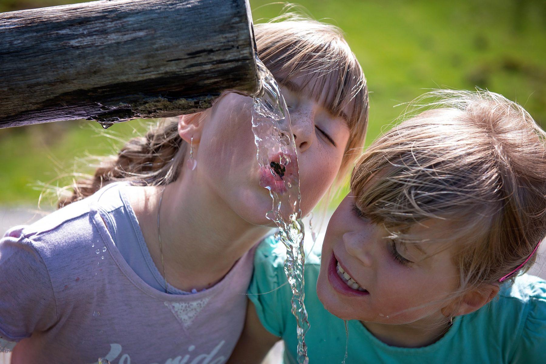 Le bonheur de se désaltérer à la fontaine !