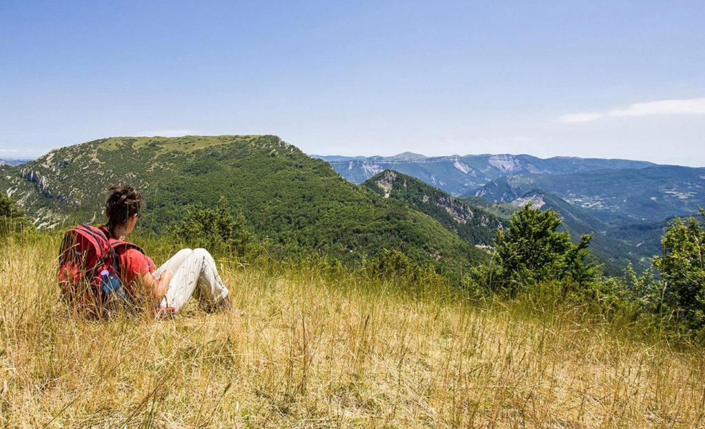 En étoile dans les montagnes du Diois, halte avec vue !
