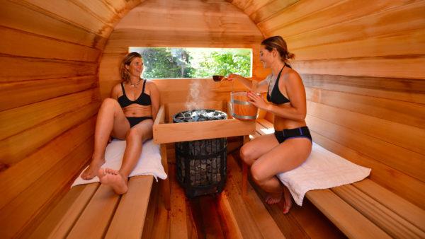Le sauna d'extérieur, en Red Cedar canadien