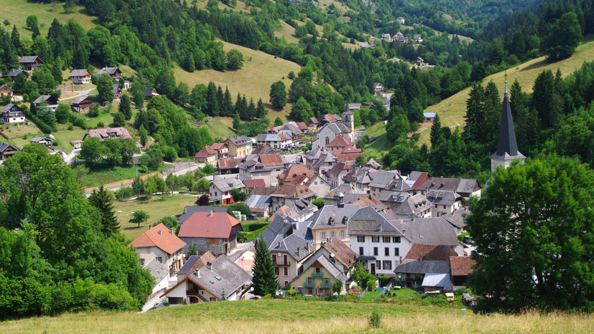 Le village de Saint Pierre d'Entremont en Chartreuse
