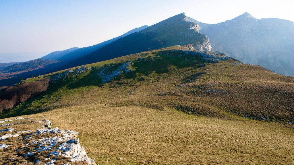 La crête et le plateau d'Ambel dans le Vercors