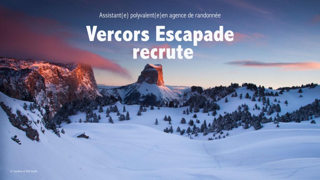 offre d'emploi Vercors Escapade